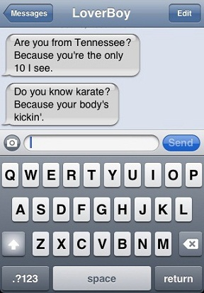 Some flirty text messages