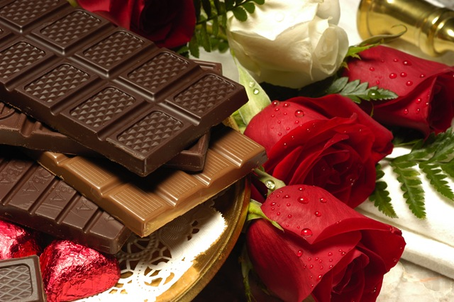 chocolates-flowers